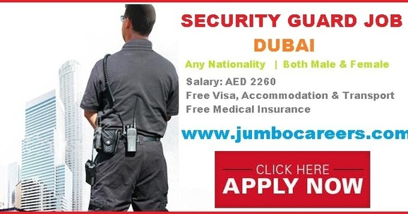 Security Guard Vacancy in Dubai with Free Visa and Accommodation
